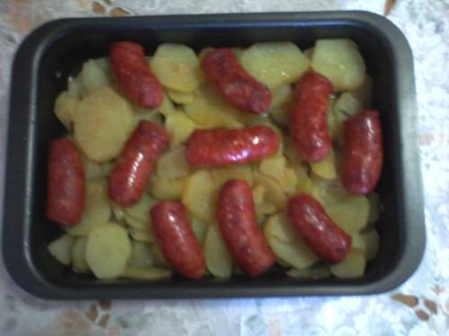 secondo piatto,salsiccia,patate