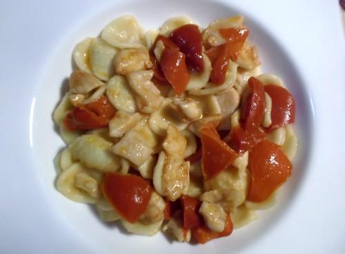 ricette bimby - orecchiette con pollo e peperoni