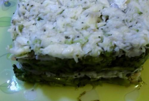 sformato di spigola e broccoli