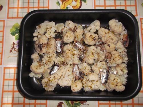 cavolfiore,pistacchi di bronte,verdura,ortaggio invernale,piatto unico,secondo piatto,sardine