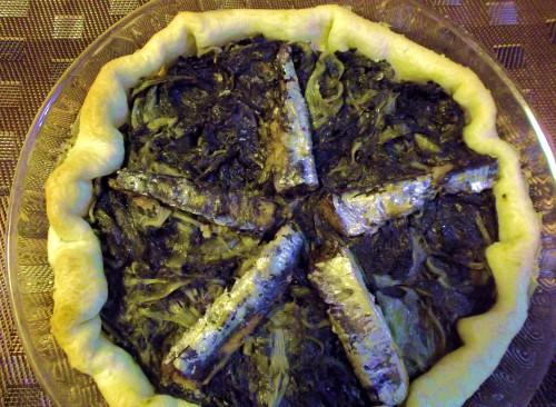 ricette bimby - torta salata con catalogna e sardine