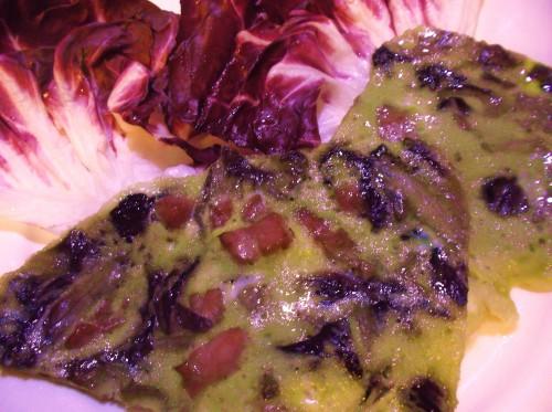 ricette bimby - frittata con radicchio e pancetta