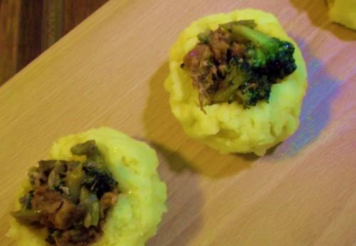 ricette bimby - sformatini di polenta con broccoli e salsiccia